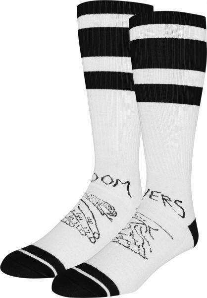 Doomsayers Socken Snake Shake white-black Vorderansicht