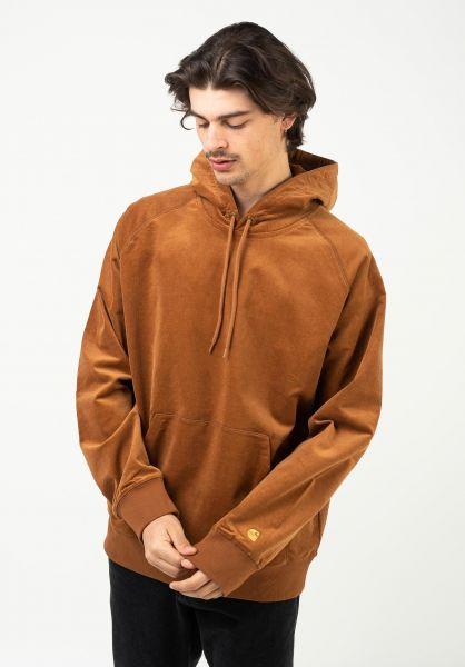 Carhartt WIP Hoodies Hooded Cord Sweatshirt rum-gold vorderansicht 0446277
