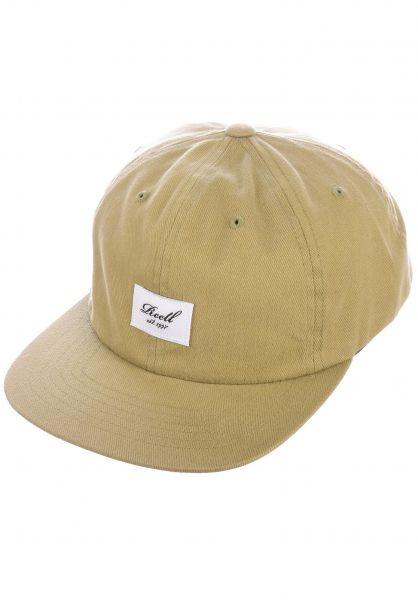 Reell Caps Flat 6 Panel khaki vorderansicht 0565010