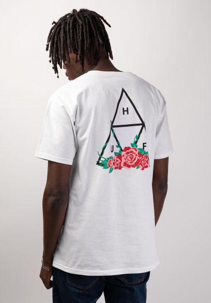 HUF T-Shirts City Rose white vorderansicht 0320061