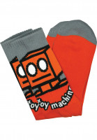 Toy-Machine Socken Robot orange Vorderansicht