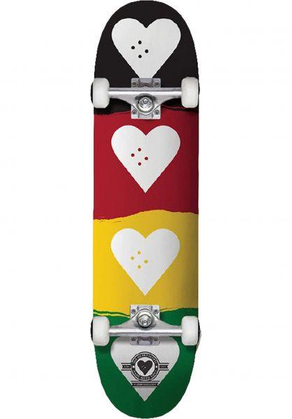 The Heart Supply Skateboard komplett Quad red-gold-green vorderansicht 0162573