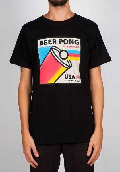 Dedicated T-Shirts Stockholm Beer Pong black vorderansicht 0399373
