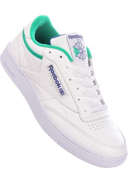 Reebok Alle Schuhe Club C 85 white-courtgreen-deepcobalt vorderansicht 0604518