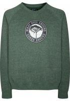 Mahagony Sweatshirts und Pullover Karma Brush greenmelange Vorderansicht