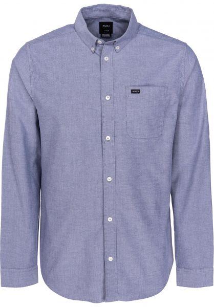 RVCA Hemden langarm That'll Do Stretch distantblue vorderansicht 0411892