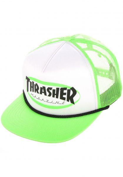 Thrasher Caps Ellipse Rope green vorderansicht 0567181