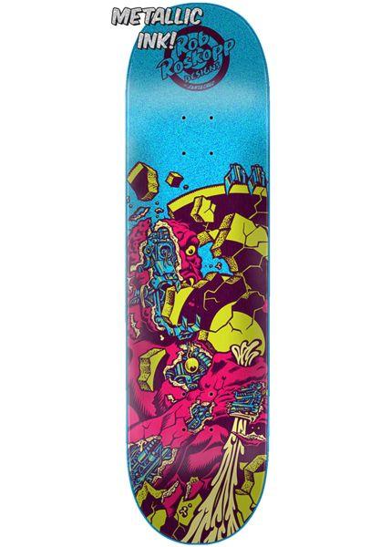 Santa-Cruz Skateboard Decks Roskopp 4 Flashback blue-pink vorderansicht 0262291