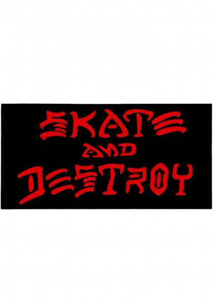 Thrasher Verschiedenes Skate & Destroy Sticker Large black Vorderansicht