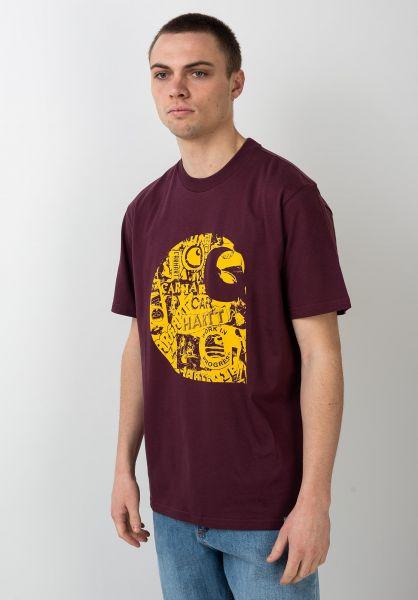 Carhartt WIP T-Shirts Collage C shiraz-sunflower vorderansicht 0321233