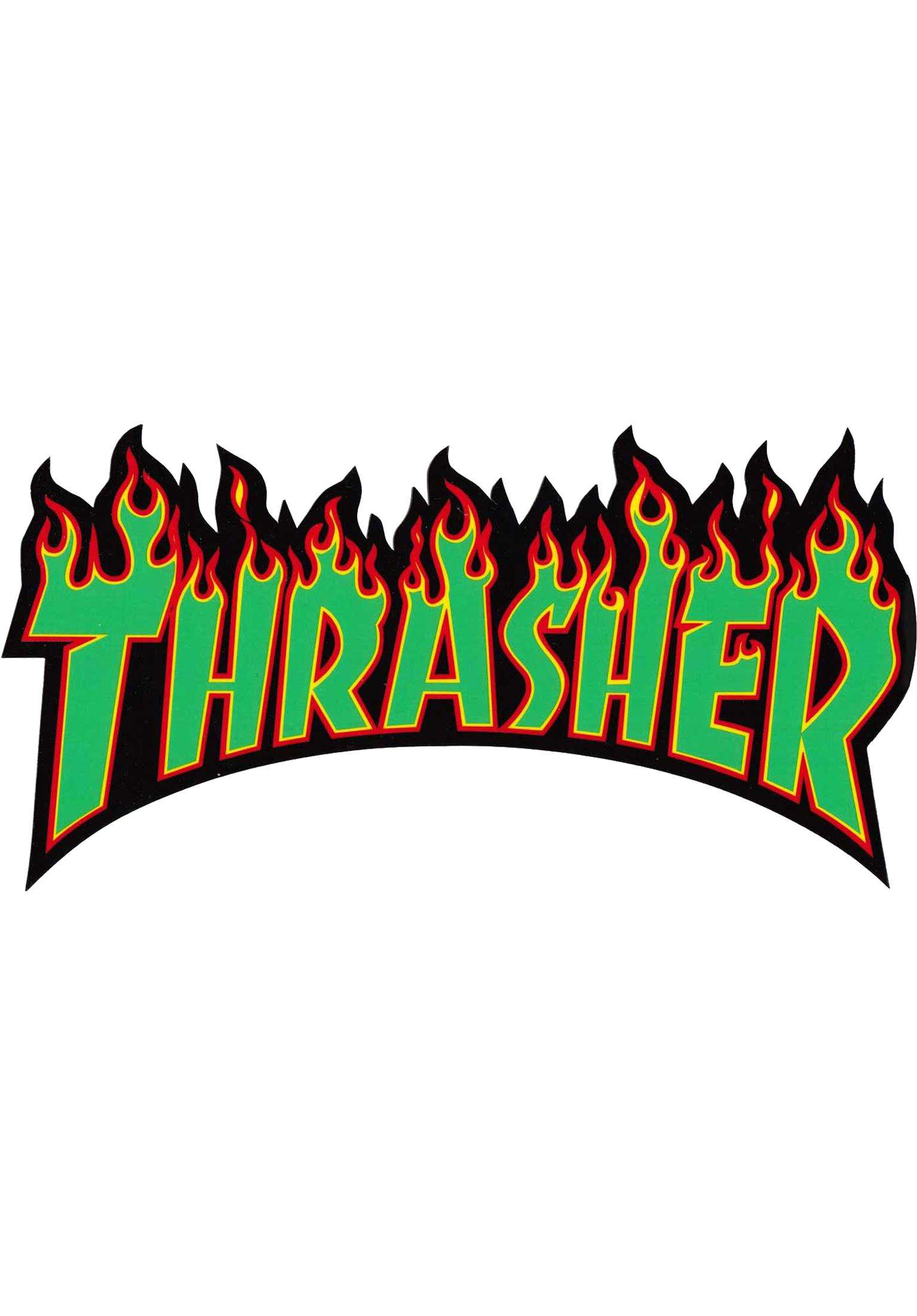 Flame sticker large thrasher divers en rasta pour homme titus