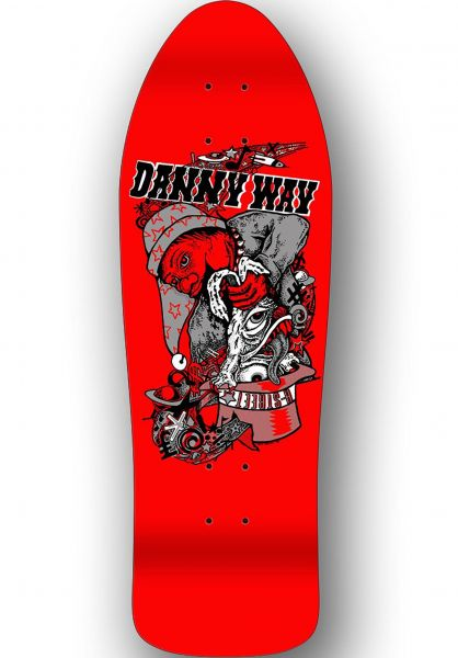 H-Street Skateboard Decks Danny Way Rabbit In The Hat B-Series red dip vorderansicht 0119465