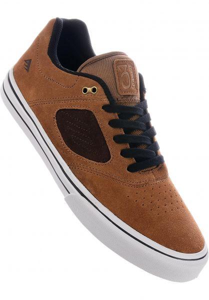Emerica Alle Schuhe Reynolds 3 G6 Vulc FW18 tan-brown vorderansicht 0604549