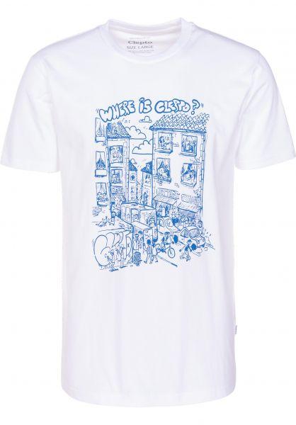 Cleptomanicx T-Shirts Where Is... white vorderansicht 0399755