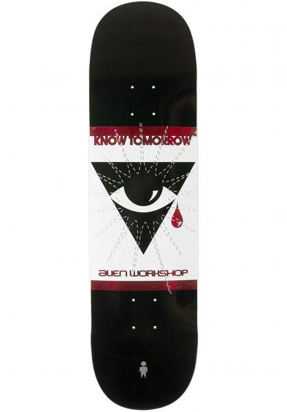 Alien-Workshop Skateboard Decks Know Tomorrow white-black vorderansicht 0266394