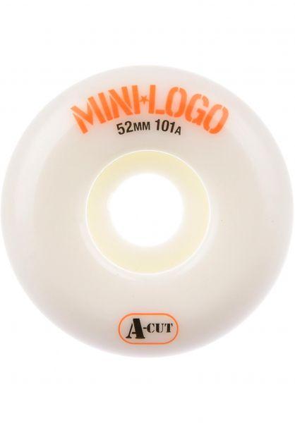 Mini-Logo Rollen A-Cut #2 101A white Vorderansicht