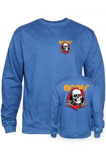 Powell-Peralta Sweatshirts und Pullover Ripper royal-heather vorderansicht 0422757