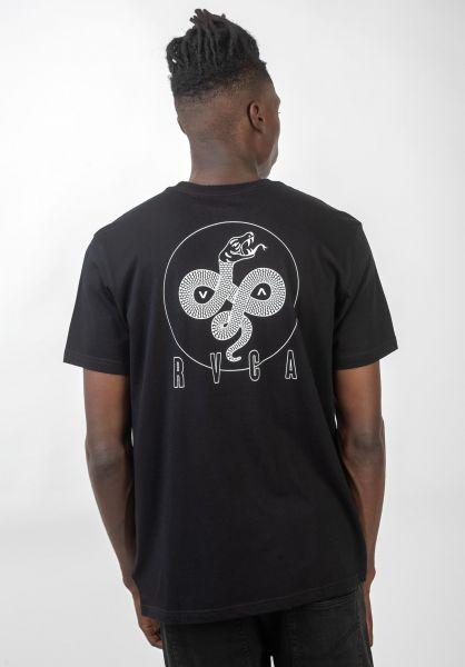 RVCA T-Shirts Serpent Curved black vorderansicht 0320562