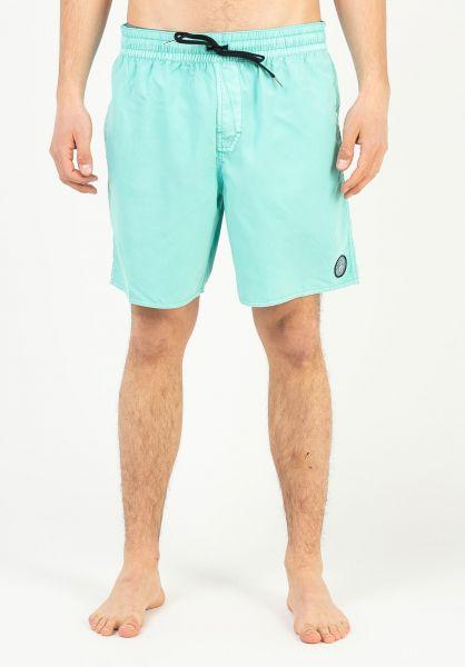 Volcom Beachwear Center Trunk 17´´ sprucegreen vorderansicht 0205497