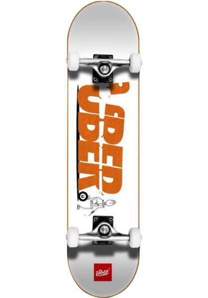 ÜBER Skateboard komplett Slice white-orange vorderansicht 0161961
