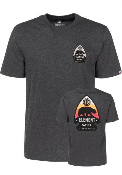 Element T-Shirts Arrow charcoalheather Vorderansicht