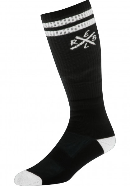 Rebel Rockers Socken Tube black Vorderansicht