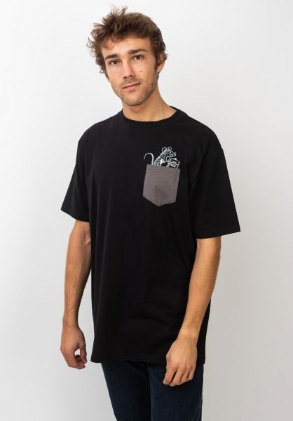 TITUS T-Shirts Rat Pocket black vorderansicht 0396719