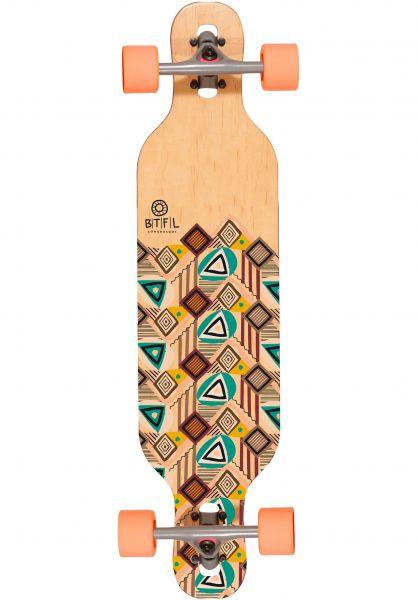BTFL Longboards Longboards komplett Mali multicolored Vorderansicht