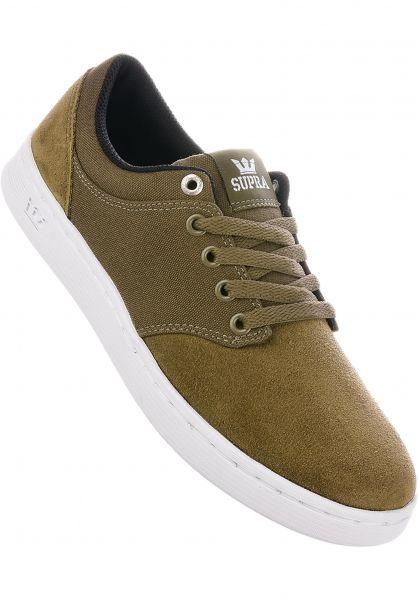 Supra Alle Schuhe Chino Court olive-white Vorderansicht