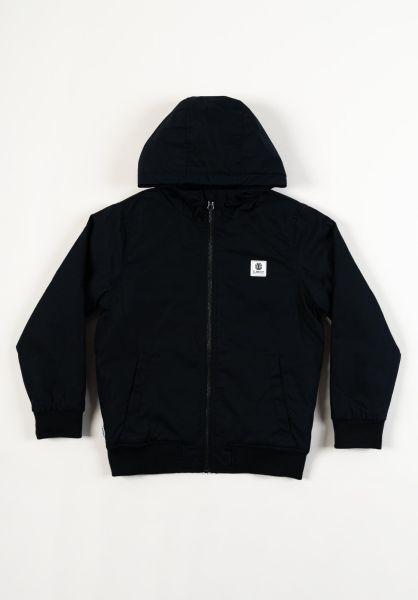 Element Winterjacken Dulcey Kids Winter flintblack vorderansicht 0503134