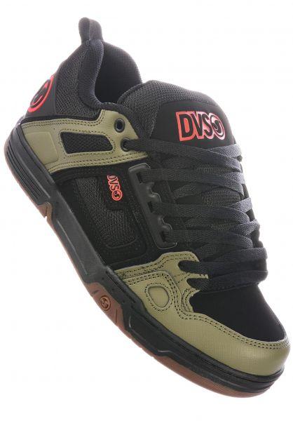 DVS Alle Schuhe Comanche black-olive-orange vorderansicht 0603386