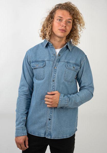 TITUS Hemden langarm Artturi blue-bleached vorderansicht 0411873
