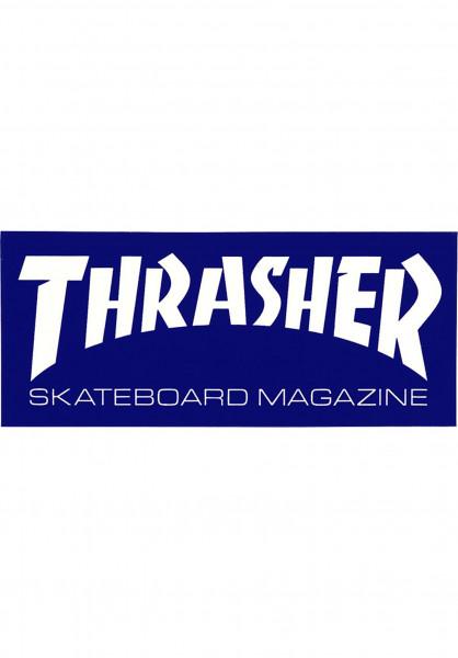 Thrasher Verschiedenes Skate Mag Mini Sticker blue Vorderansicht