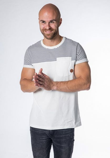 alife and kickin T-Shirts Leo cloudy-stripes vorderansicht 0320765