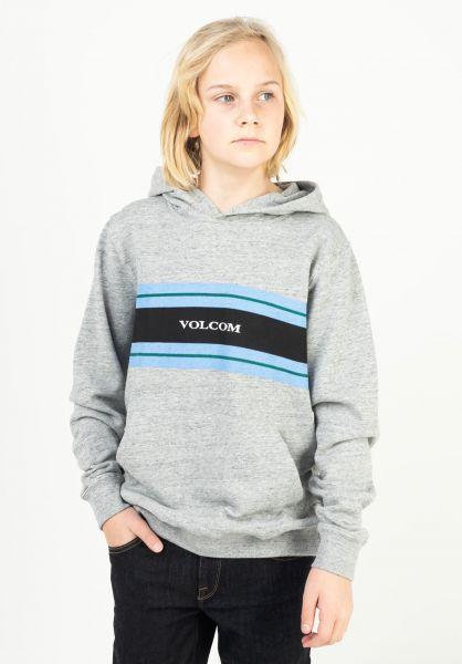 Volcom Hoodies Zero Division P/O Kids heathergrey vorderansicht 0446327