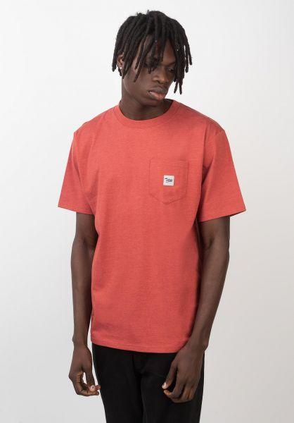 TITUS T-Shirts Script Pocket rostheather vorderansicht 0399514