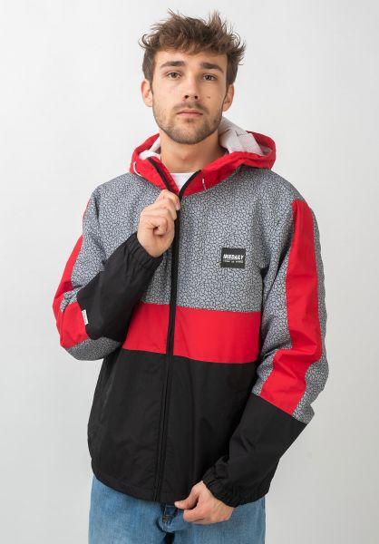 iriedaily Übergangsjacken Prime Hood Jacket black-red vorderansicht 0504389