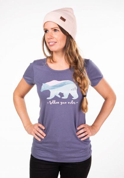 Rules T-Shirts Bär lavendel vorderansicht 0397410
