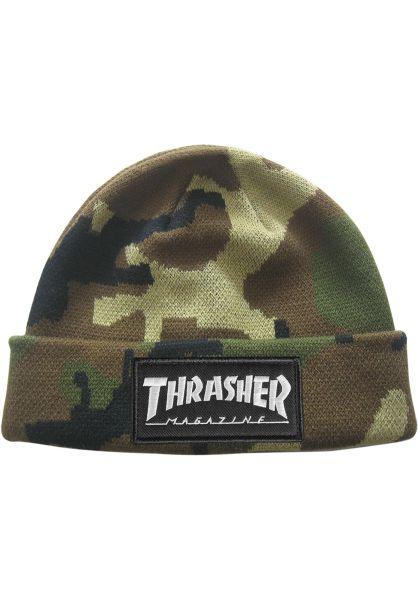 Thrasher Mützen Logo Patch camo vorderansicht 0572259