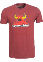 Toy-Machine T-Shirts Monster burgundy Vorderansicht