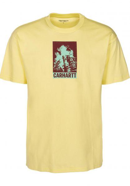 Carhartt WIP T-Shirts Campfire honeydew vorderansicht 0399698