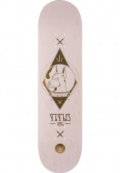 TITUS Skateboard Decks Outer Space Laika T-Fiber white Vorderansicht