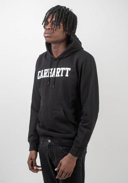 Carhartt WIP Hoodies College black-white vorderansicht 0443540