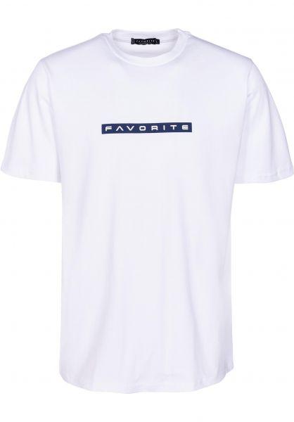 Favorite T-Shirts Techno white vorderansicht 0399852
