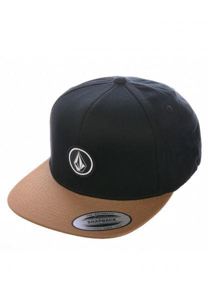Volcom Caps Quarter Twill goldenbrown vorderansicht 0564814