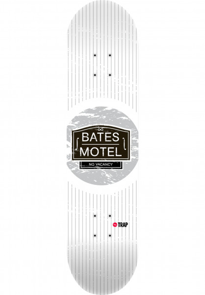 Trap Skateboard Decks Horror Hits Bates Motel white Vorderansicht