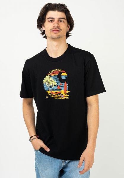 Carhartt WIP T-Shirts Beach C black vorderansicht 0323506