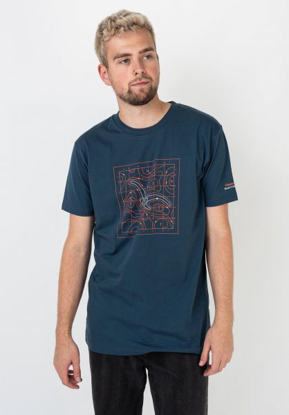 Cleptomanicx T-Shirts Isoba bluewing vorderansicht 0322201