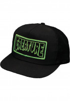 Creature Caps Patch Trucker black Vorderansicht
