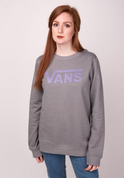 Vans Sweatshirts und Pullover Flying V Classic greyheather vorderansicht 0422645
